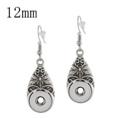 snap sliver Earring fit 12MM snaps style jewelry KS1181-S