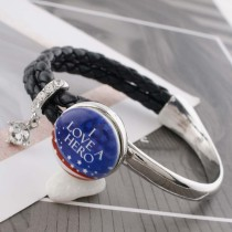 20MM hero blue Painted enamel metal C5395 print snaps jewelry
