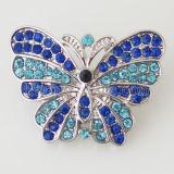 Бабочка 20MM с голубыми стразами KB7046 с ювелирными украшениями