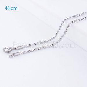 La cadena de moda de acero inoxidable 46CM se ajusta a todas las joyas plateadas FC9024