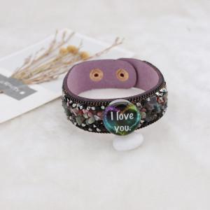 20MM Saint Valentin émail peint métal impression C5627 s'encliquette bijoux