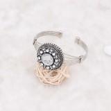 Diseño 20MM de plata chapada con diamantes de imitación blancos KC6924 broches de joyería