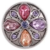 20MM дизайн оснастки серебро Антиквариат с фиолетовым стразами KC5451 оснастки ювелирные изделия