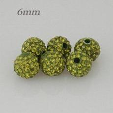 6mm Green STELLUX Austrian crystal ball beads