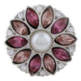 20MM Design-Snap-Splitter mit rosaroten Strasssteinen und KC5703-Snaps-Perlen