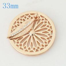 33 mm Alloy Coin fit Locket jewelry type009
