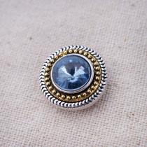 20MM enfonce des morceaux de bijoux interchangeables en strass bleu