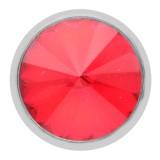 Diseño 20MM de plata chapada con diamantes de imitación rojos KC6965 broches de joyería