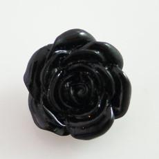 18MM Flower snap Alliage de résine KB2275 noir