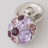 20MM Круглая защелка Античное серебро с покрытием из фиолетового горного хрусталя KB5004 защелкивается ювелирные изделия