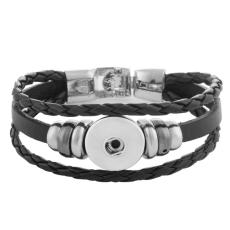 20CM leather bracelets fit 18MM snaps chunks