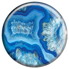 Металлические кнопки, окрашенные под мрамор, 20 мм, синий принт C5061