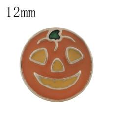12MM Halloween gold Plated with orange enamel KS6321-S snaps jewelry