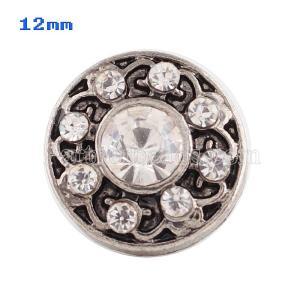 Broches blancos 12mm de tamaño pequeño para joyas en trozos