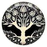 20MM árbol Esmalte pintado metal C5211 estampado broches joyería
