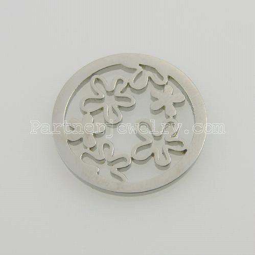 25MMステンレススチールコインチャームは、ジュエリーサイズの小さな花に合います