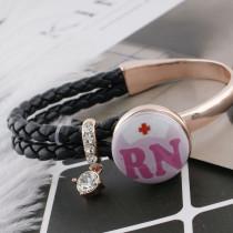 Медсестра 20MM Окрашенная эмаль по металлу C5150 с принтом для ювелирных украшений