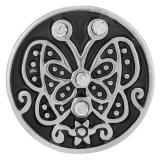 20MM snap de mariposa Chapado en plata antigua KB7030 broches de joyería