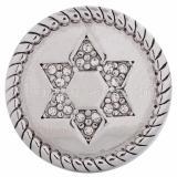 20MM snap blanc Hexagram KC5108 boutons-pression interchangeables bijoux