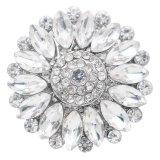 Diseño 20MM chapado en plata con diamantes de imitación blancos KC7768 broches de joyería