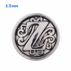 12mm Z Antique snaps Silver Plated KS5023-S snap jewelry
