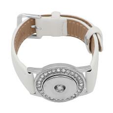 Кнопки 1 Белый Натуральная кожа KC0879 Часы браслеты подходят 20MM защелки куски