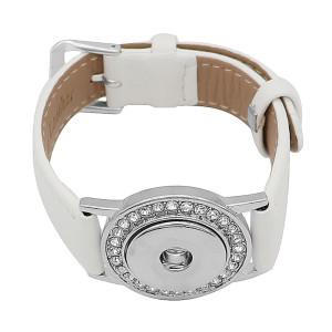 Botones 1 Blanco Cuero genuino KC0879 Las pulseras de reloj se ajustan a los trozos de broches 20MM