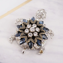 20MM design snap gold Plated with deep blue Rhinestones KC8945 snaps jewelry