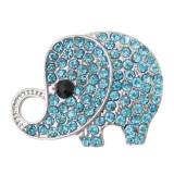 20MM Elephant защелкивается со голубым стразами KB7044 защелкивает украшения