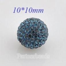 10mm Darkblue STELLUX Austrian crystal ball beads