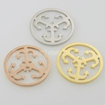 33MM stainless steel coin charms fit  jewelry size anchor