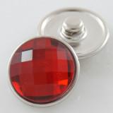 18MM complemento de aleación de cristal rojo facetado KB2701-AG broches intercambiables