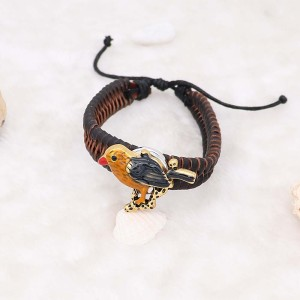 20MM Bird snap Silver Plated brown enamel KC6960 snaps jewelry