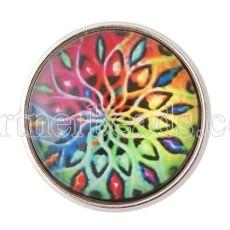 20MM Snap buntes Glas Dekoratives Muster KB2858-N austauschbare Snaps Schmuck