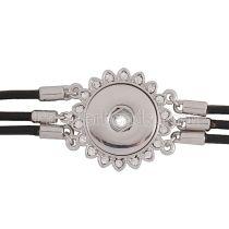 Boutons 25CM 1 Les bracelets KC0727 en cuir noir avec nouveau type de strass conviennent aux boutons 20mm