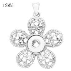 snap sliver Pendant fit 12MM snaps style jewelry KS0365-S