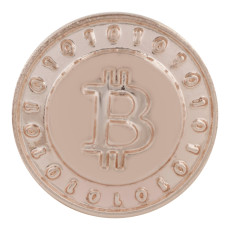 20MM Bitcoin coin Rose-Gold Plated KC5669 snaps jewelry