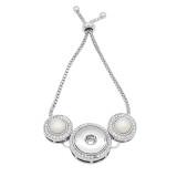 Botones 1 pulsera ajustable con astilla ajustable Incrustación de diamantes con broches de perlas joyería KC0810