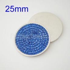 25MM Stainless steel coin disc with rhinestone