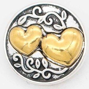 20MM Love snap Chapado en oro KC6681 broches de joyería