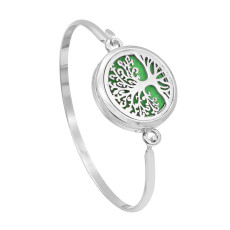 28MM alloy Tree of life Aromatherapy/Essential Oil Diffuser Perfume Bracelet with 1pc 20mm discs as gift