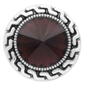 20MM оснастка февраль родинка камень фиолетовый KC6575 сменные защелки ювелирные изделия