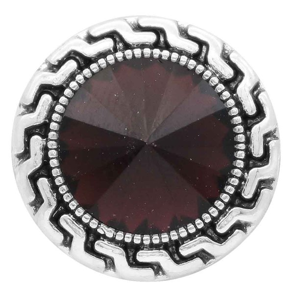 20MM snap Feb. birthstone purple KC6575 broches intercambiables joyería