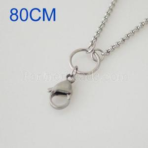 80CM Stainless steel necklace chain for id cards holder or floating locket