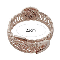 1 button snaps metal rose gold bracelet fit 20mm snaps chunks KC0793