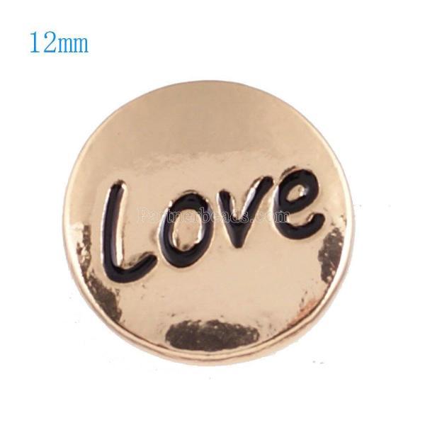 12mmチャンクジュエリー用の小さなサイズの金メッキスナップ