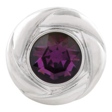 20MM snap Feb. birthstone deep purple KC5677 interchangable snaps jewelry