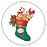 20MM Navidad esmaltado pintado C5489 estampado broches joyería