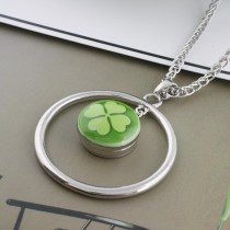 20MM Clover Snaps en métal émaillé peint C5083 print green