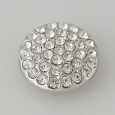 20MM Round snap Antique Silver Plated with white  rhinestone KB5031 snaps jewelry